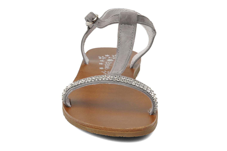 Sandales et nu-pieds Acebo's Mimosa Gris vue portées chaussures
