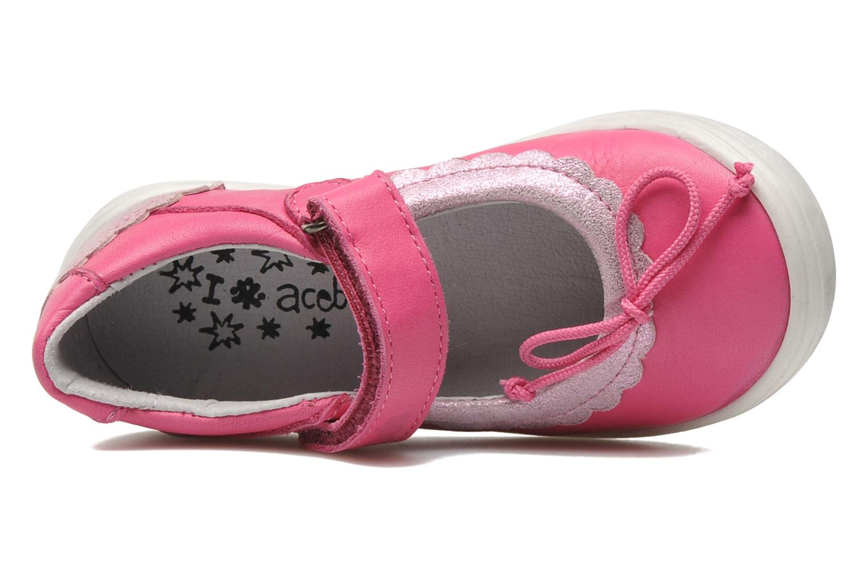 Ballerinas Acebo's Pansy rosa ansicht von links