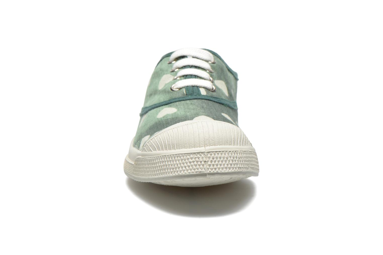 Baskets Bensimon Tennis Bleachylove E Vert vue portées chaussures