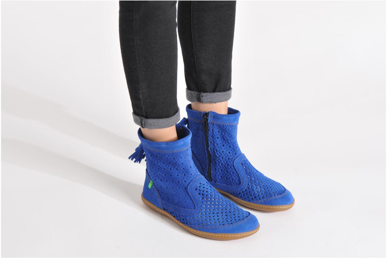 Bottines et boots El Naturalista El Viajero N262 W Bleu vue bas / vue portée sac