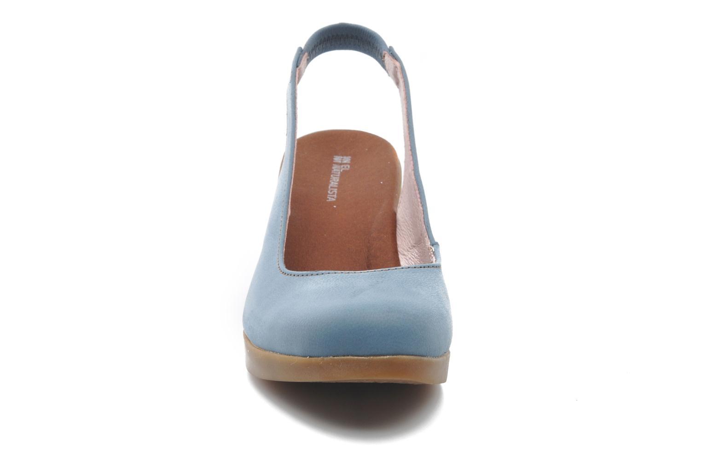 Escarpins El Naturalista Espiral N583 Bleu vue portées chaussures