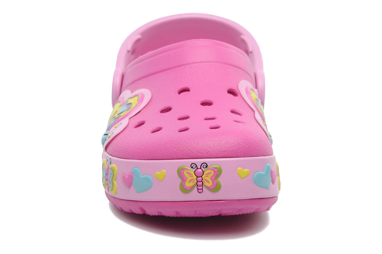Sandalen Crocs Crocband Lights Butterfly PS rosa schuhe getragen