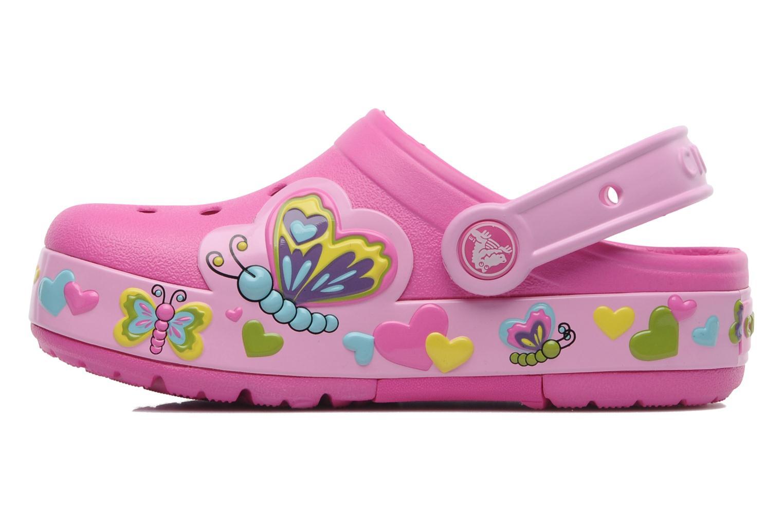 Sandales et nu-pieds Crocs Crocband Lights Butterfly PS Rose vue face