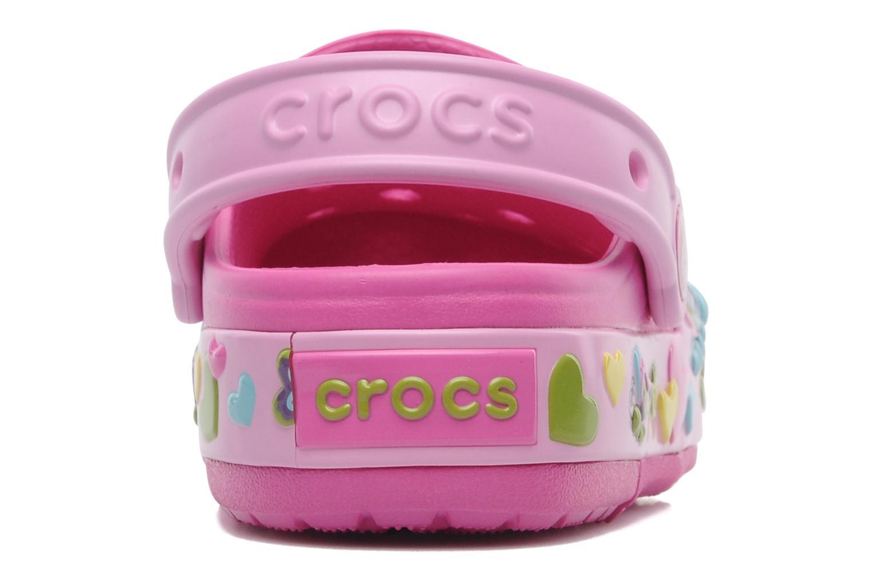 Sandales et nu-pieds Crocs Crocband Lights Butterfly PS Rose vue droite
