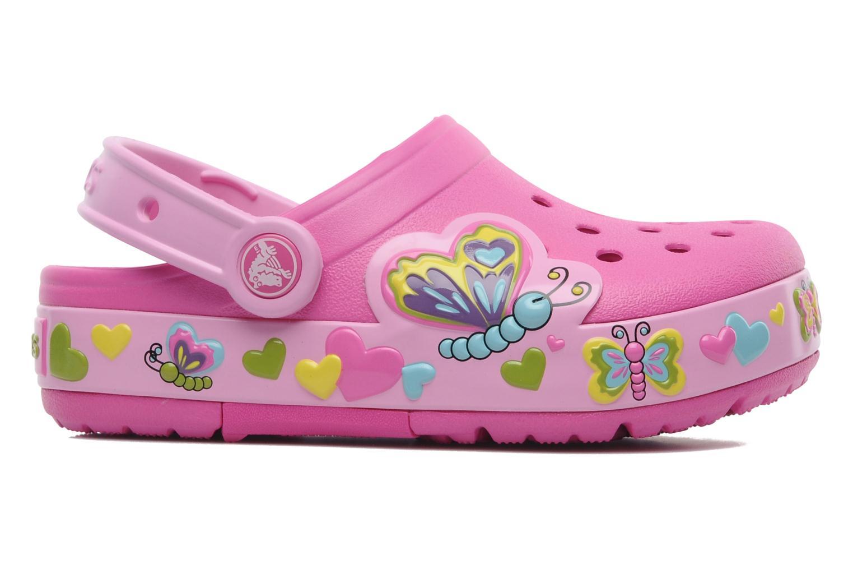 Sandales et nu-pieds Crocs Crocband Lights Butterfly PS Rose vue derrière