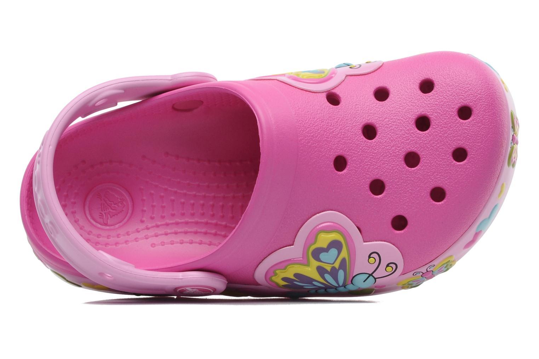 Sandales et nu-pieds Crocs Crocband Lights Butterfly PS Rose vue gauche