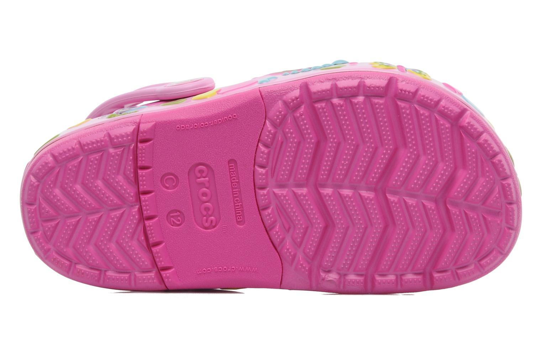 Sandales et nu-pieds Crocs Crocband Lights Butterfly PS Rose vue haut