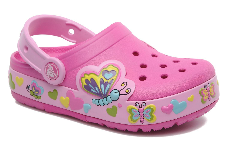 Sandales et nu-pieds Crocs Crocband Lights Butterfly PS Rose vue détail/paire