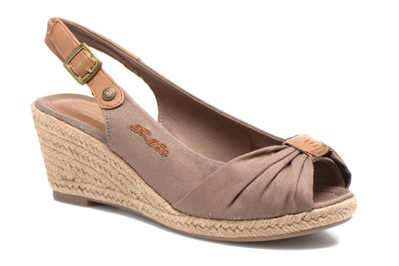 Sandales et nu-pieds Tom Tailor Tany Marron vue détail/paire