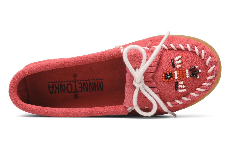 Loafers Minnetonka Thunderbird II Moc G Pink se fra venstre