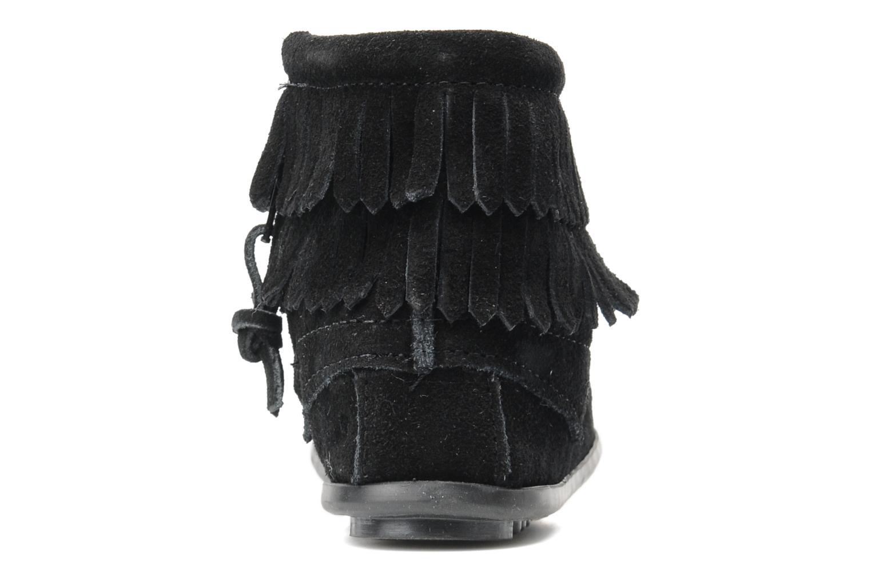 Boots Minnetonka Double Fringe bootie G Svart Bild från höger sidan