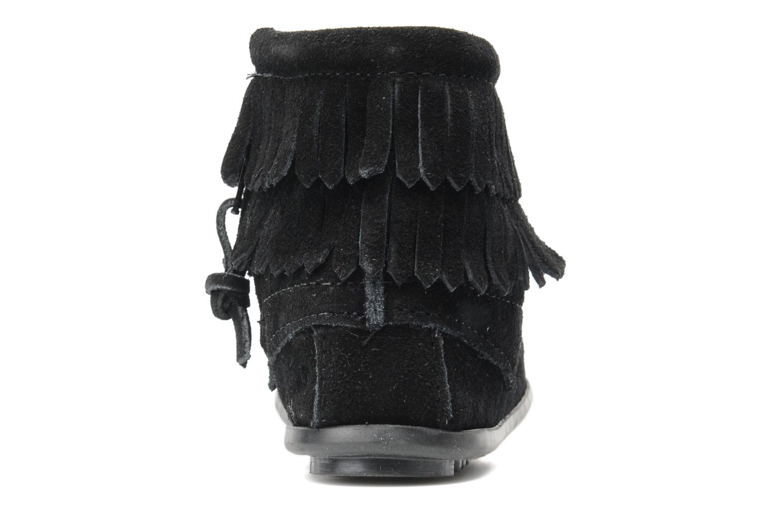 Ankle boots Minnetonka Double Fringe bootie G Black view from the right
