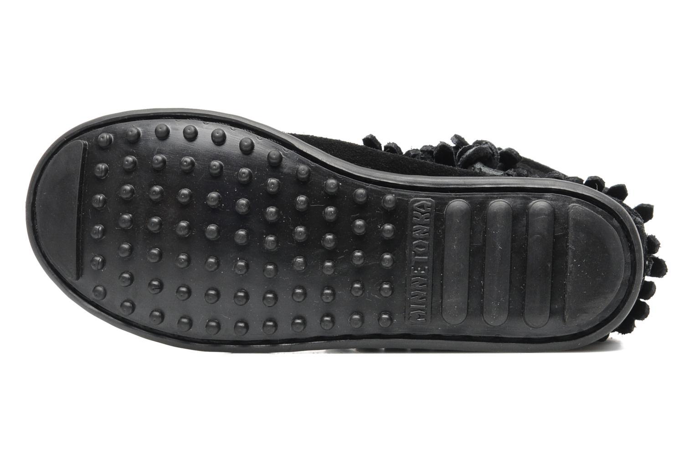 Stiefeletten & Boots Minnetonka Double Fringe bootie G schwarz ansicht von oben