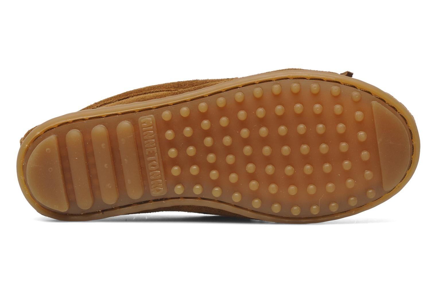 Loafers Minnetonka Leopard Kilty Moc G Brown view from above
