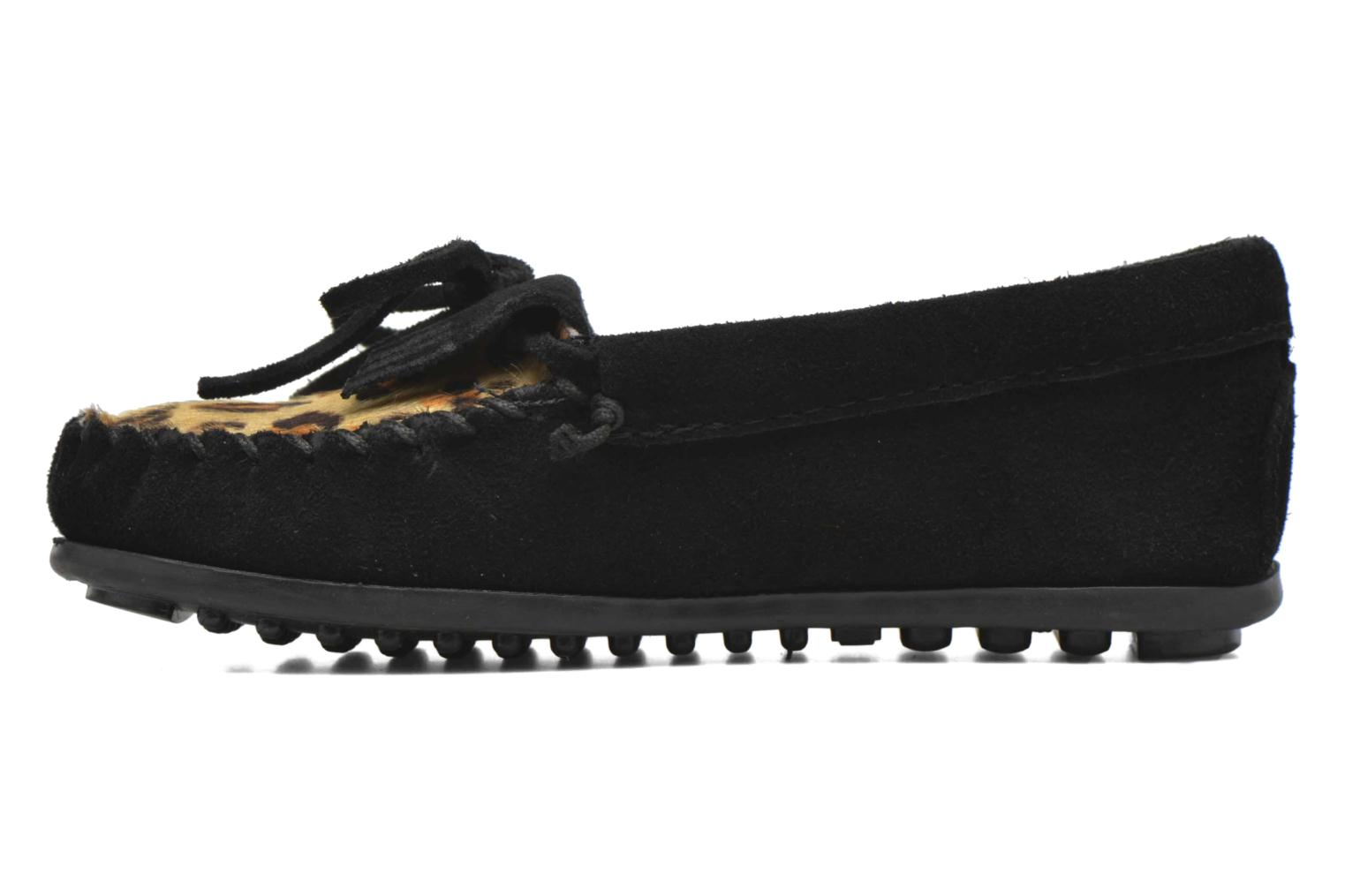Loafers Minnetonka Leopard Kilty Moc G Black front view