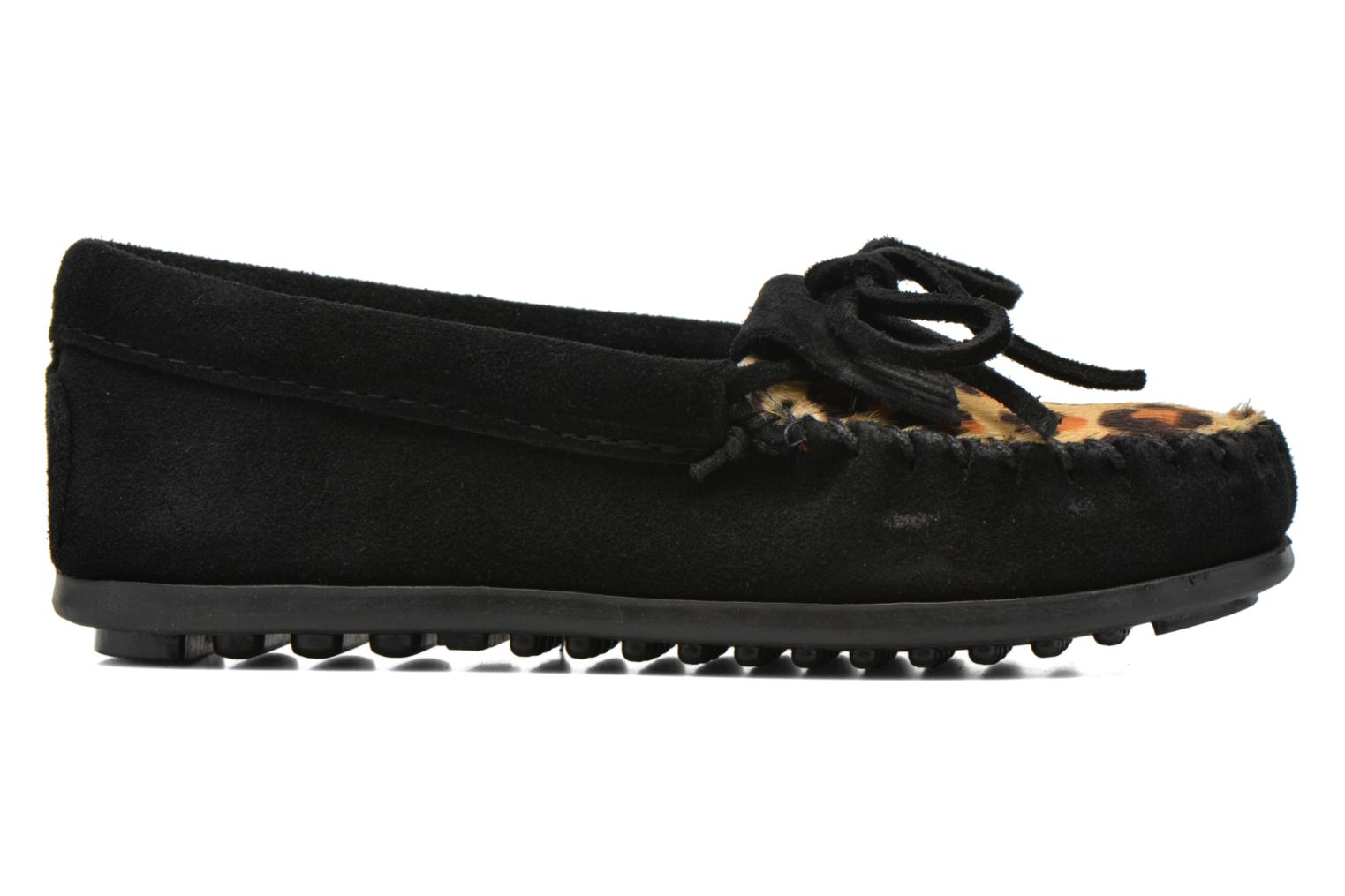 Loafers Minnetonka Leopard Kilty Moc G Black back view