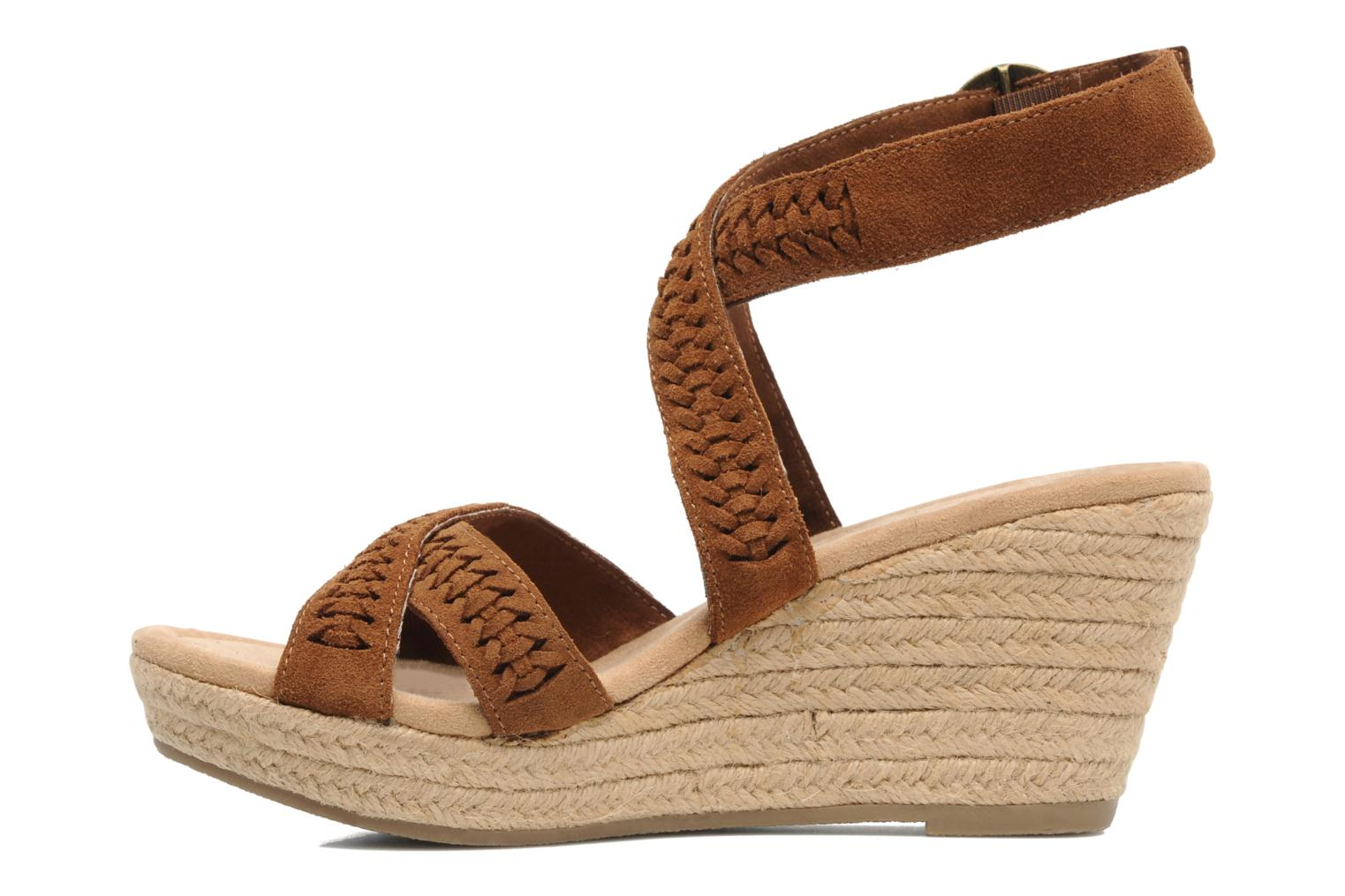 Sandals Minnetonka Haley Brown front view