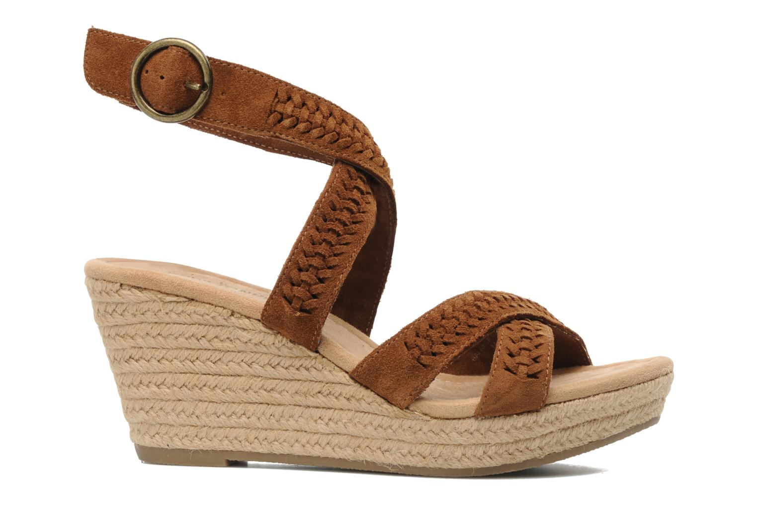 Sandals Minnetonka Haley Brown back view