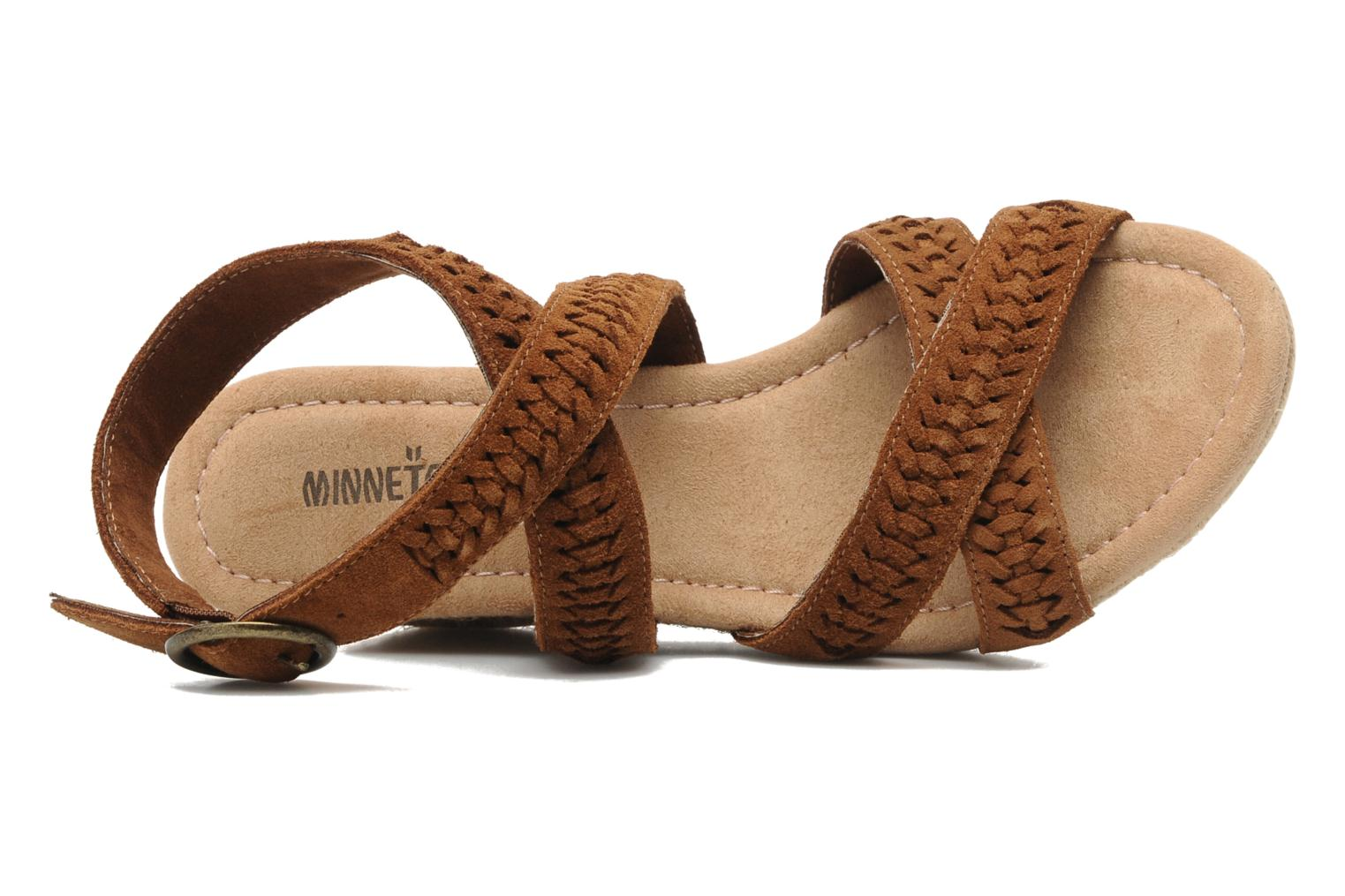Sandals Minnetonka Haley Brown view from the left