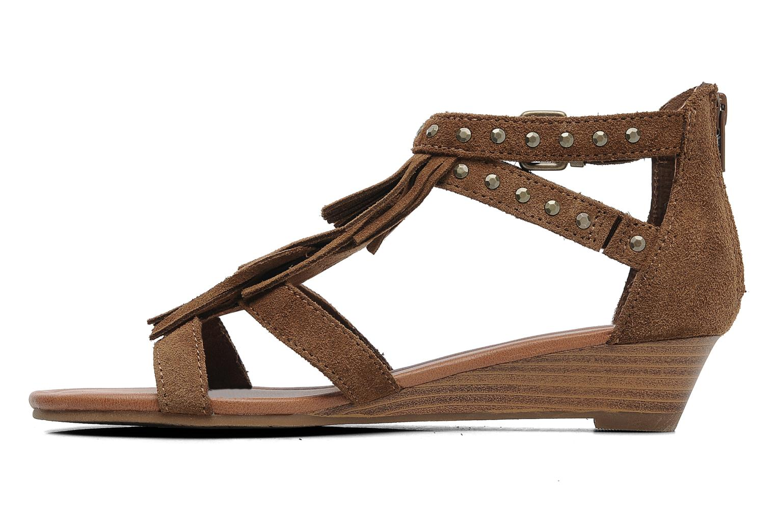 Sandals Minnetonka Monaco Brown front view
