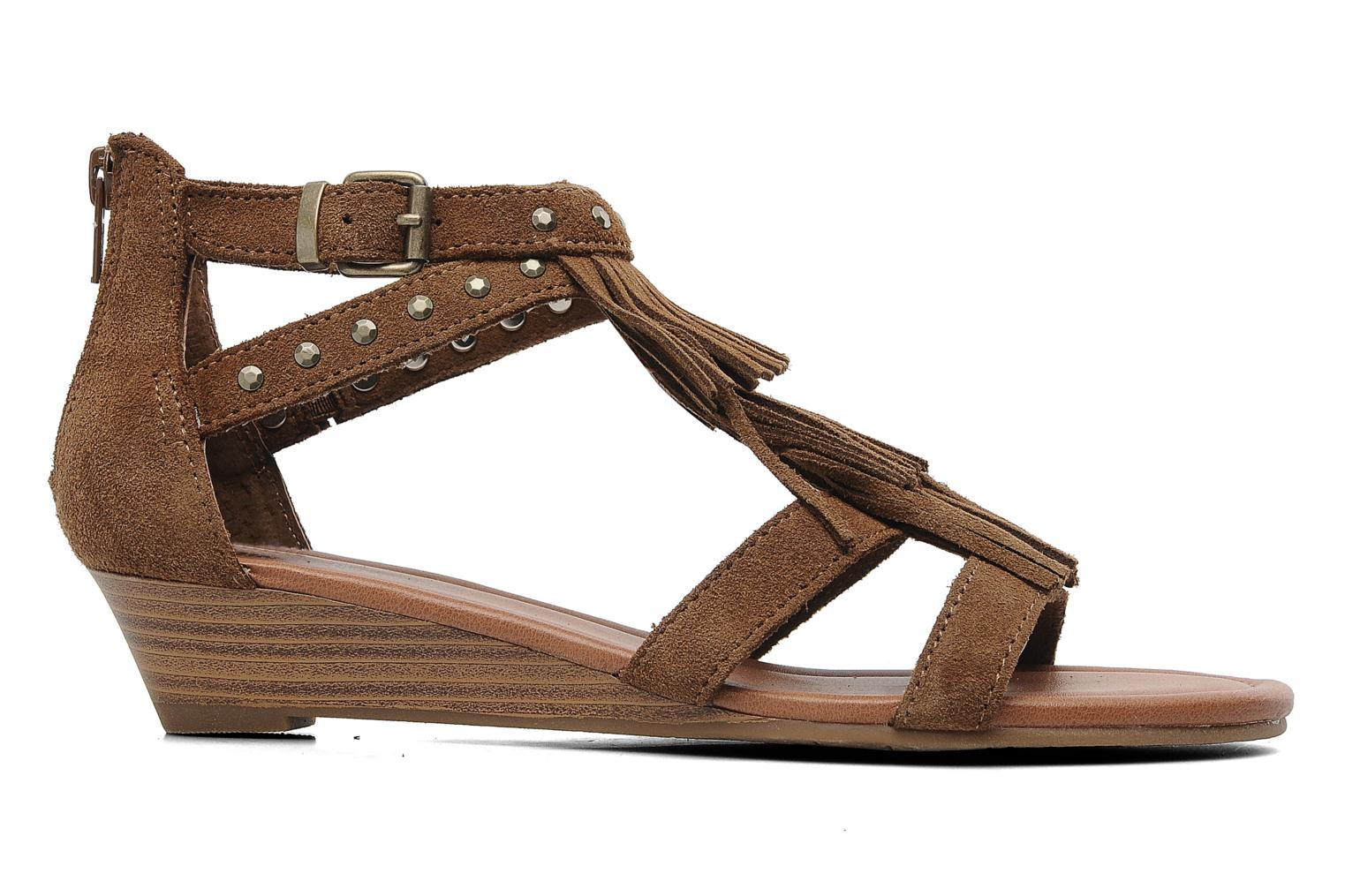 Sandals Minnetonka Monaco Brown back view