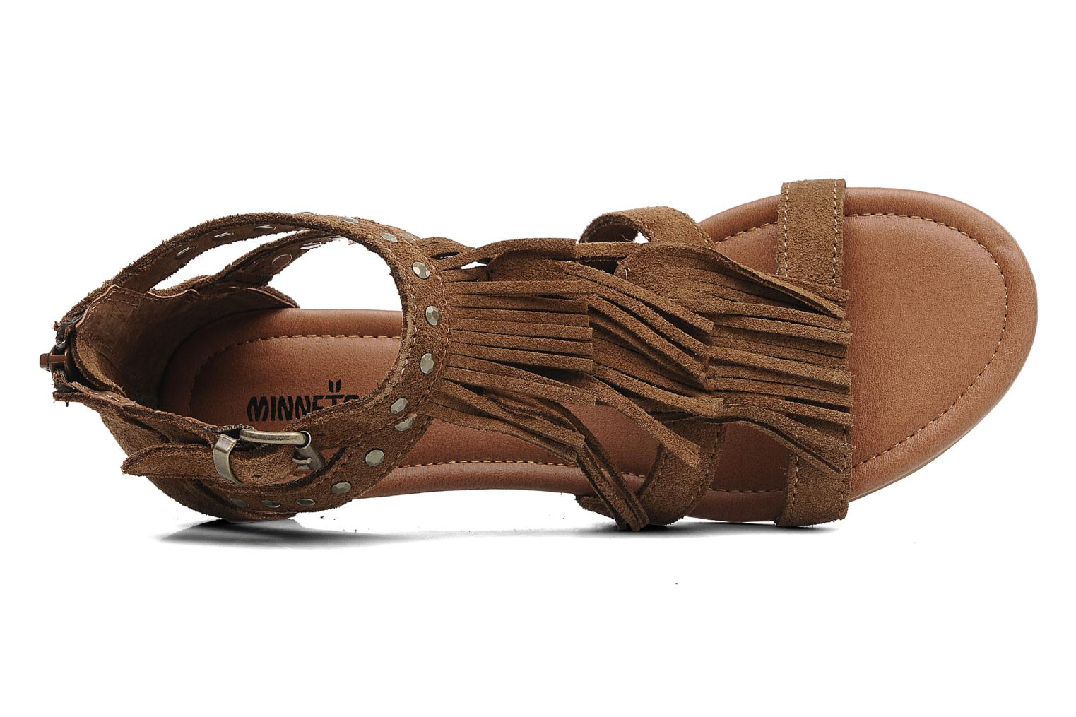 Sandals Minnetonka Monaco Brown view from the left