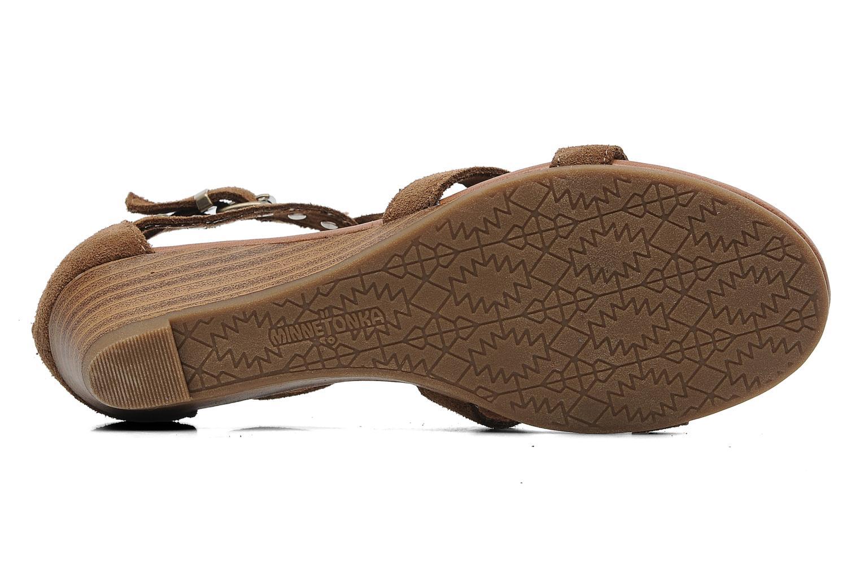 Sandales et nu-pieds Minnetonka Monaco Marron vue haut