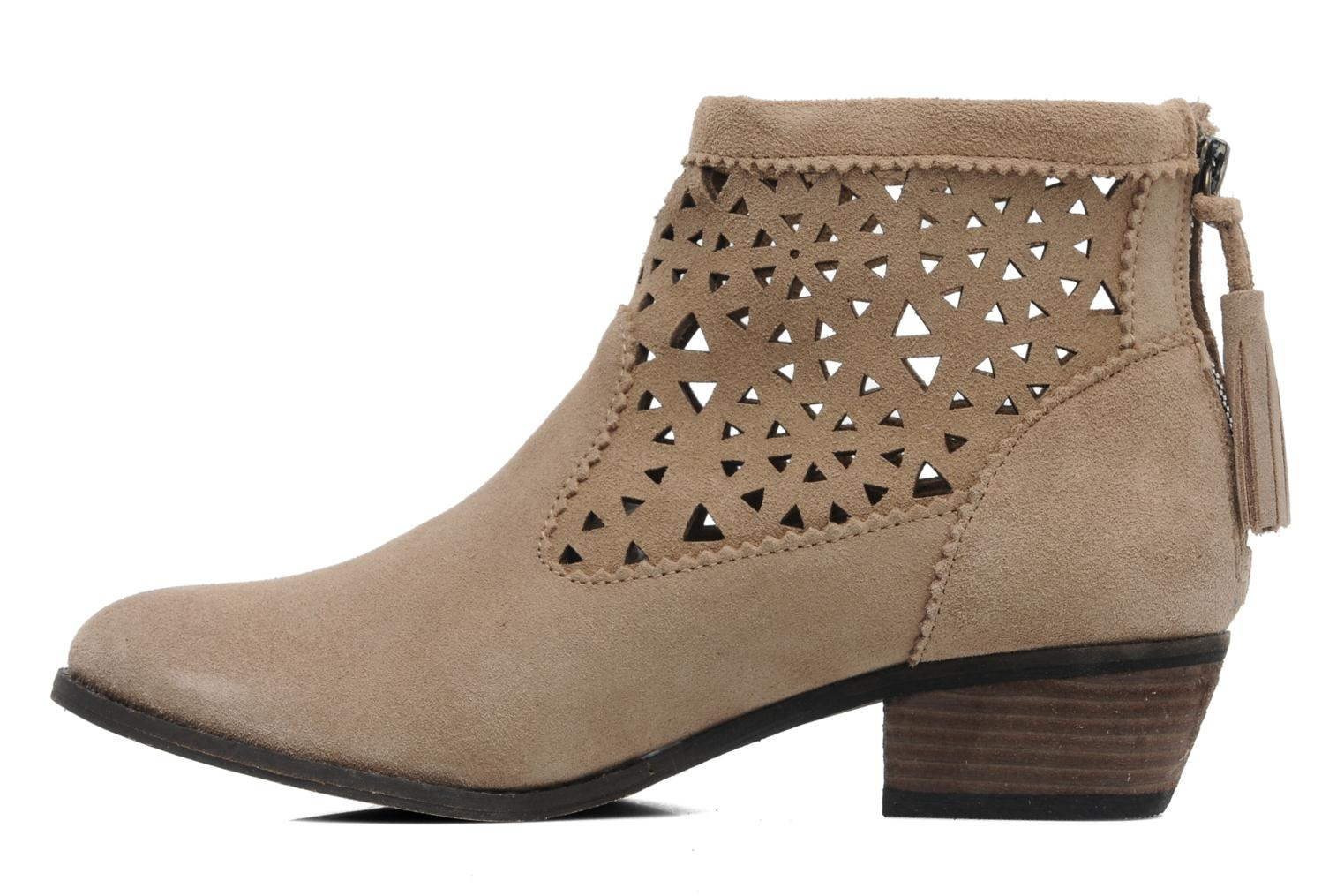 Ankle boots Minnetonka Cutout Boot Beige front view