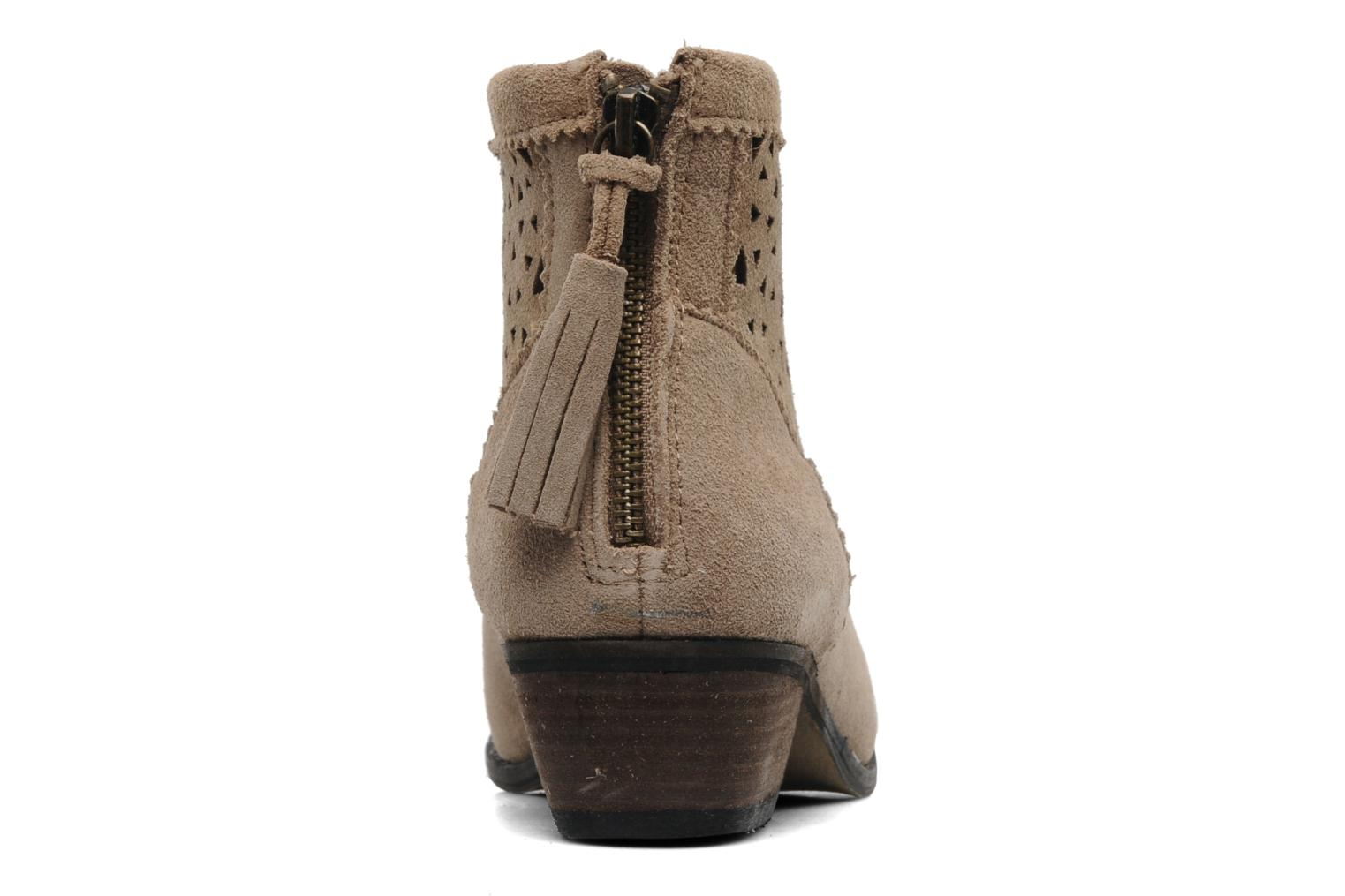 Ankle boots Minnetonka Cutout Boot Beige view from the right