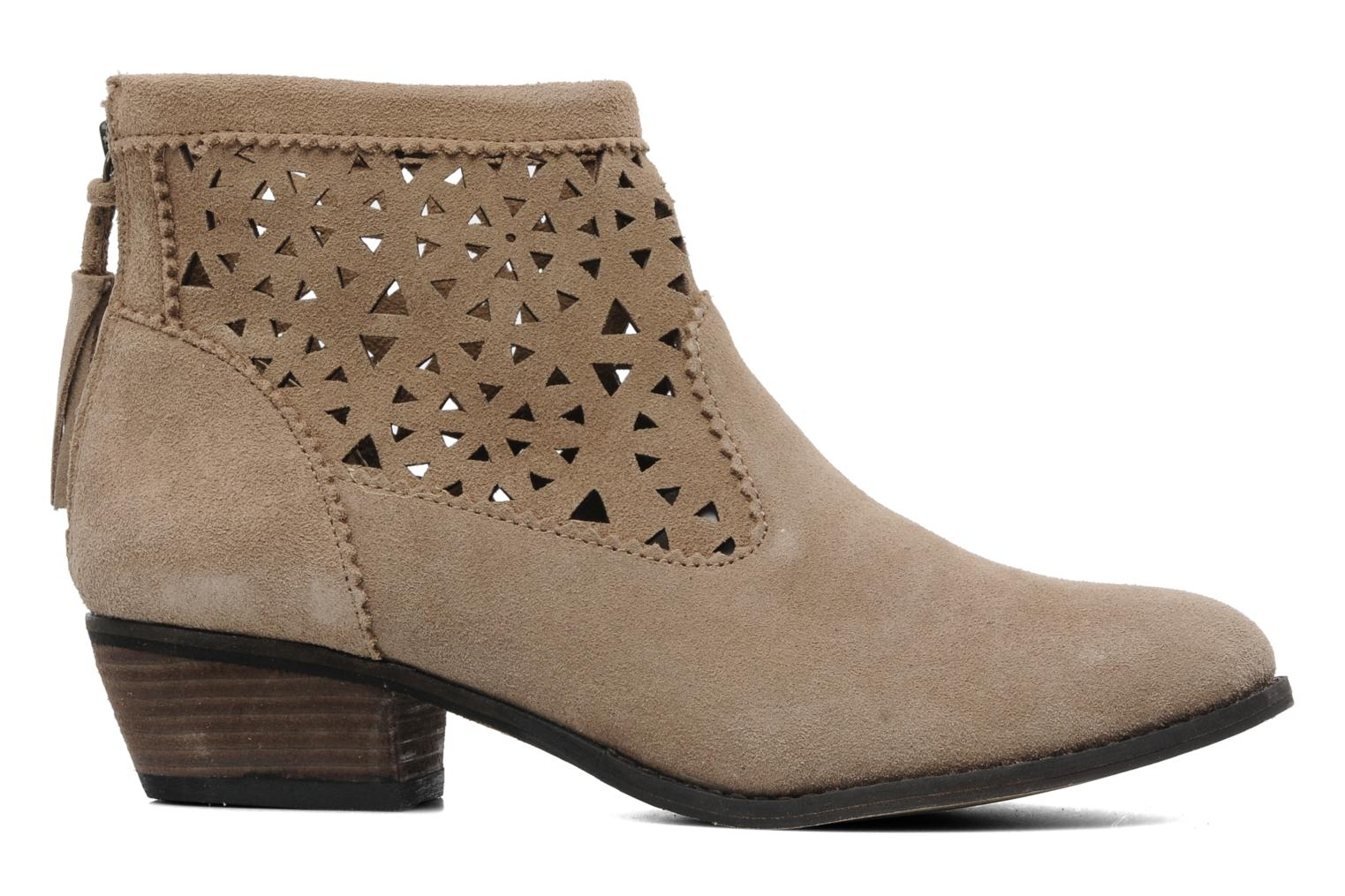 Ankle boots Minnetonka Cutout Boot Beige back view