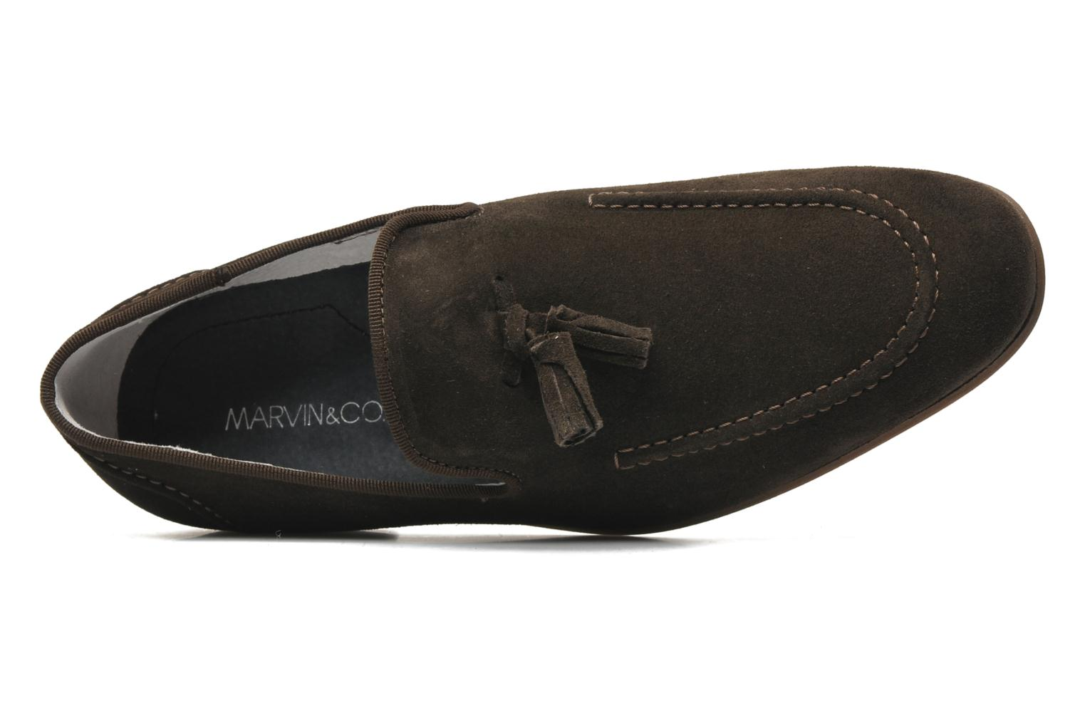 Loafers Marvin&co Nicapone Brown view from the left