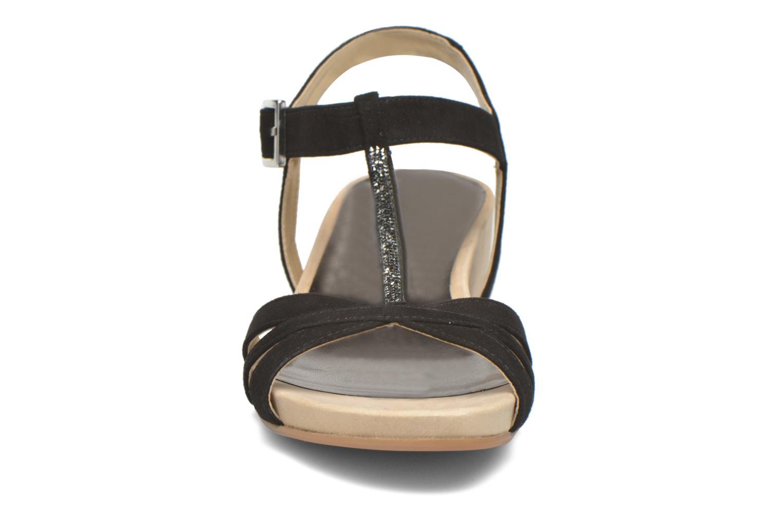 Sandales et nu-pieds Unisa Boili Noir vue portées chaussures