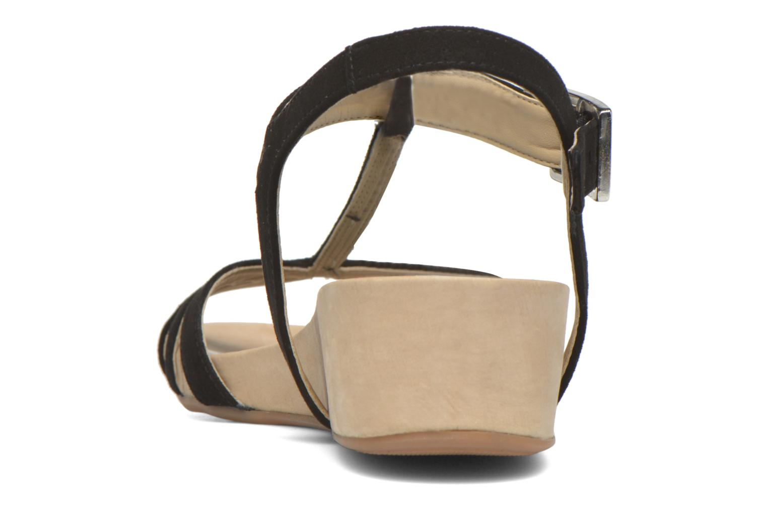Sandals Unisa Boili Black view from the right