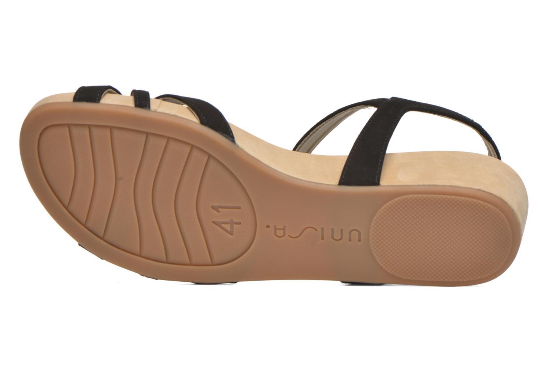 Sandales et nu-pieds Unisa Boili Noir vue haut