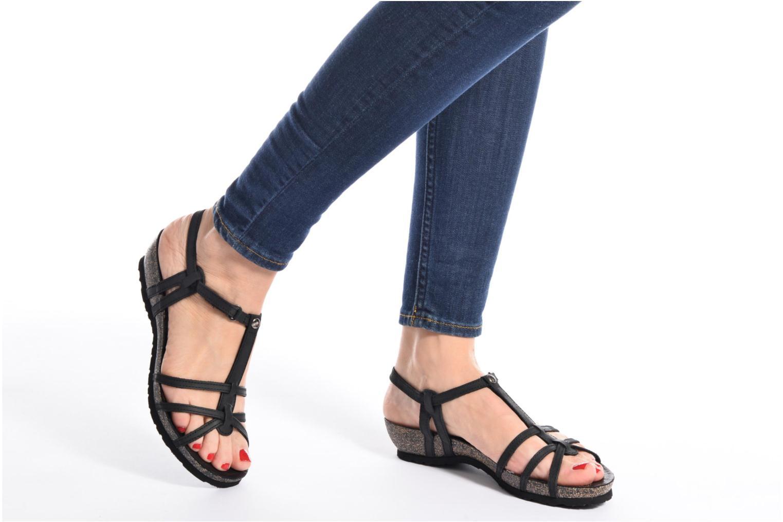 Sandalen Panama Jack Dori braun ansicht von unten / tasche getragen