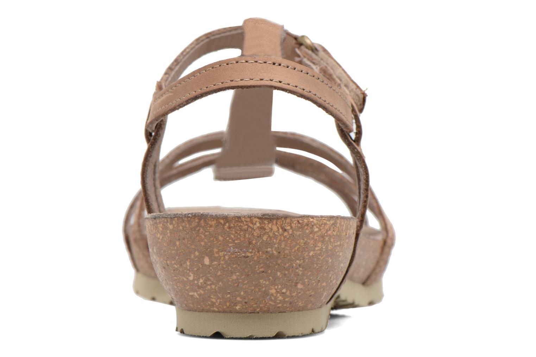 Sandalen Panama Jack Dori braun ansicht von rechts