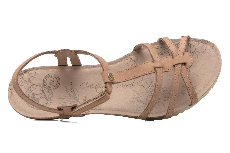 Sandalen Panama Jack Dori braun ansicht von links