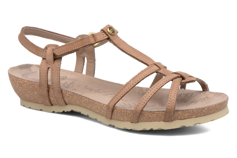 Sandals Panama Jack Dori Brown detailed view/ Pair view
