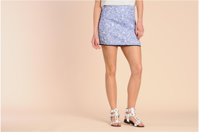 Sandales et nu-pieds Steve Madden PERFECK Blanc vue bas / vue portée sac