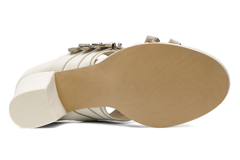 Sandales et nu-pieds Shellys London VALVORI Blanc vue haut