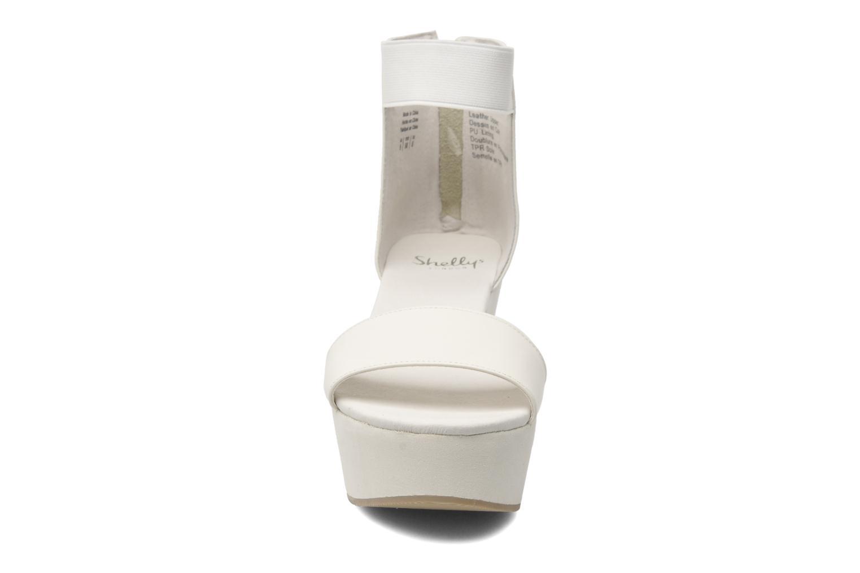 Sandals Shellys London MAGNI White model view