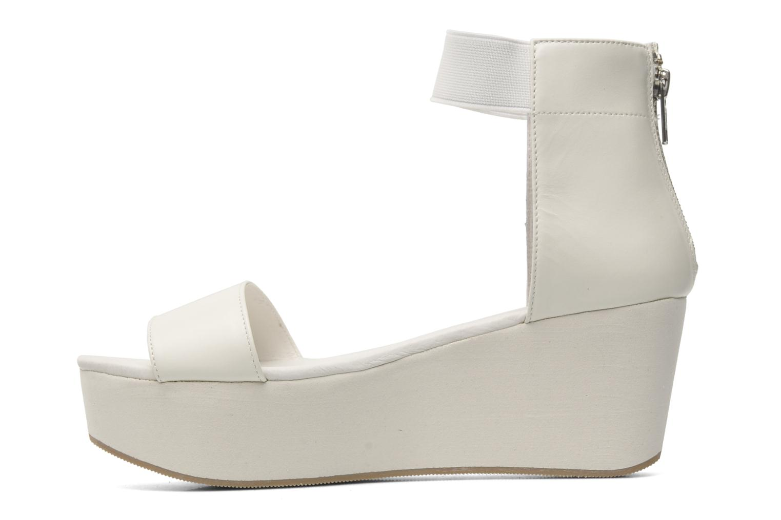 Sandalias Shellys London MAGNI Blanco vista de frente