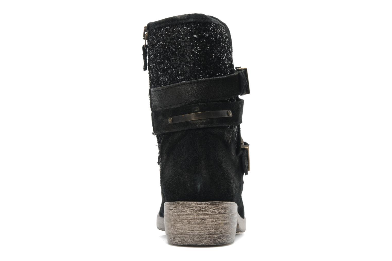 Botines  Méliné Coton Negro vista lateral derecha