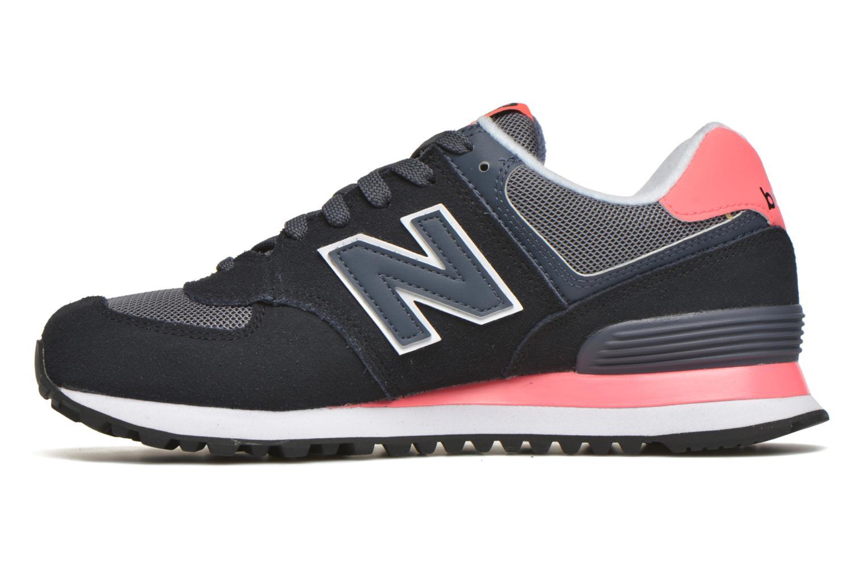 Sneaker New Balance WL574 schwarz ansicht von vorne