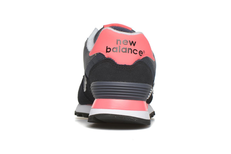 Deportivas New Balance WL574 Negro vista lateral derecha