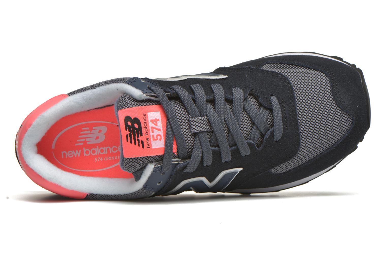 Sneaker New Balance WL574 schwarz ansicht von links