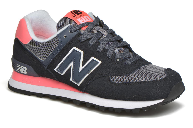 Sneaker New Balance WL574 schwarz detaillierte ansicht/modell