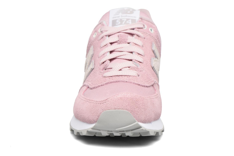Sneakers New Balance WL574 Rosa modello indossato