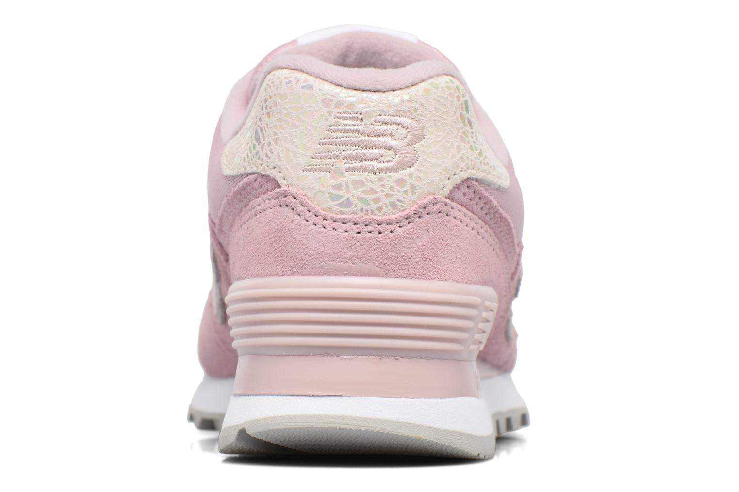 Trainers New Balance WL574 Pink view from the right
