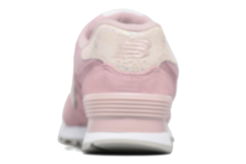 Sneaker New Balance WL574 rosa ansicht von links